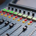Large Music Mixer desk — Stock Photo #43763155