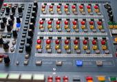 Large Music Mixer desk — Stock Photo