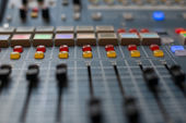 Large Music Mixer desk — Stockfoto