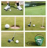 Golfový míček, sbírka — Stock fotografie
