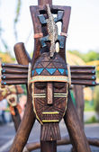 Beautifully painted Totem Pole in British Columbia — Stockfoto