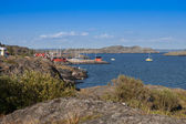 Small harbor in sweden — Stock Photo