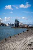 Swedish harbor — Stock Photo