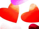 Soaring hearts background — Stock Photo