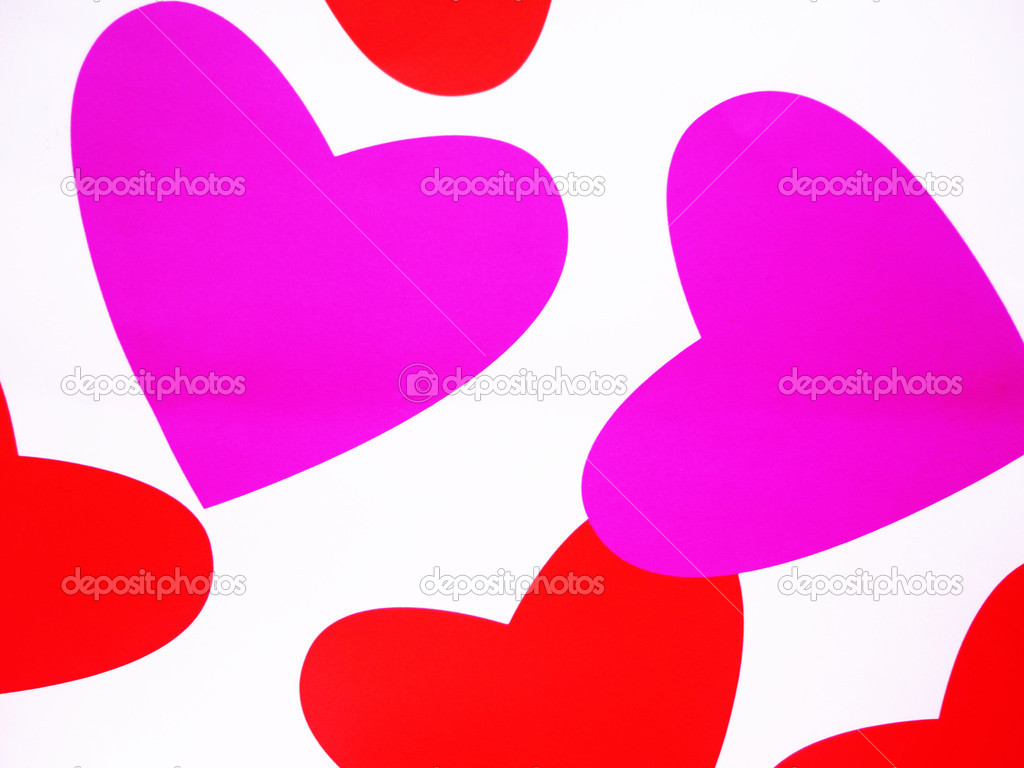 Pink and red hearts,background composition,Valentines ilustrate                                — Stock Photo #12824486