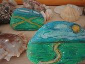 Painting on stones — Stock Photo