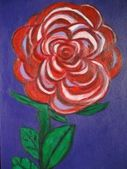 Red flower painting — Stockfoto