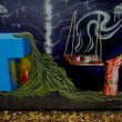 Painting abstract graffiti — Foto Stock