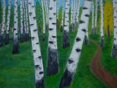 Obraz přírody stromy birchwood abstrakt — Stock fotografie