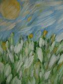 自然抽象绘画 — 图库照片