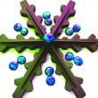 Christmas and New Year abstract snowflake decoration — Stock Photo