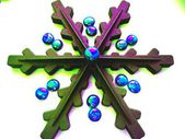Christmas and New Year abstract snowflake decoration — Stockfoto