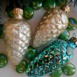 Stock Photo: Christmas decoration pine cones