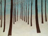 Abstraction winter landscape painting of nature — Stock Photo