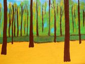 Abstraction autumn landscape painting of nature — Stock Photo