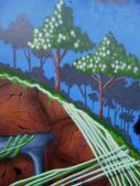 Graffiti trees abstract background — Stock Photo