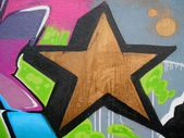 Graffiti star background — Stock Photo