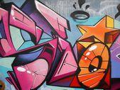 Graffiti star abstract background — Stock Photo