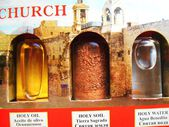 Set of consecrated oil holy water holy land — Stock Photo