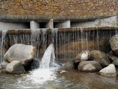 The water and stones on the  waterfall — Stock fotografie