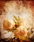 Vintage ansichtkaart met mooie rozen — Stockfoto