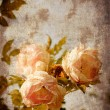 Vintage postcard with beautiful roses — Stock Photo