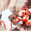 Colorful Easter eggs in basket — Stock Photo