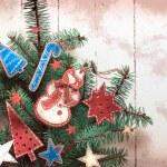 Christmas decoration over grunge background — Stock Photo #24544741