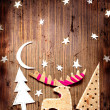 Christmas decoration over grunge background — Stock Photo #24544987