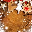 Christmas decoration over grunge background — Stock Photo #24545123