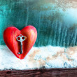 Key with the heart as a symbol of love — Stock Photo #24545399