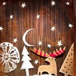 Christmas decoration over grunge background — Stock Photo #24545545