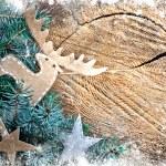 Christmas decoration over grunge background — Stock Photo #24545695