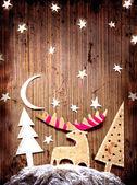 圣诞装饰在 grunge 背景 — 图库照片
