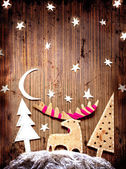 Christmas decoration over grunge background — Stock fotografie