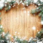 albero di Natale abete su una tavola di legno — Foto Stock #24969073