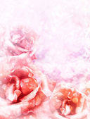 Vintage vykort med vackra rosor — Stockfoto