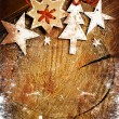 Christmas decoration over grunge background — Stock Photo #24977145