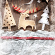 Christmas decoration over grunge background — Stock Photo