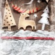 Christmas decoration over grunge background — Stock Photo #24978361