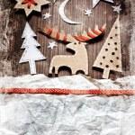 Christmas decoration over grunge background — Stock Photo #24978423