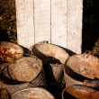 Old rusty buckets — Stock Photo