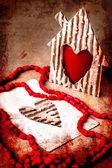 Valentinky den pozadí — Stock fotografie