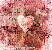 Abstract vintage valentine background with grunge texture — Stock Photo