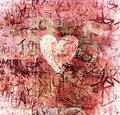 Sfondo astratto San Valentino vintage con texture grunge — Foto Stock