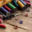 Old sewing accessories - Foto de Stock