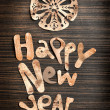 Happy New Year lettering — Stock Photo