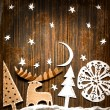 Постер, плакат: Christmas decoration over grunge background