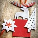 Christmas decoration over grunge background — Stock Photo #24981587