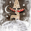 Christmas decoration over grunge background — Stock Photo #24984127